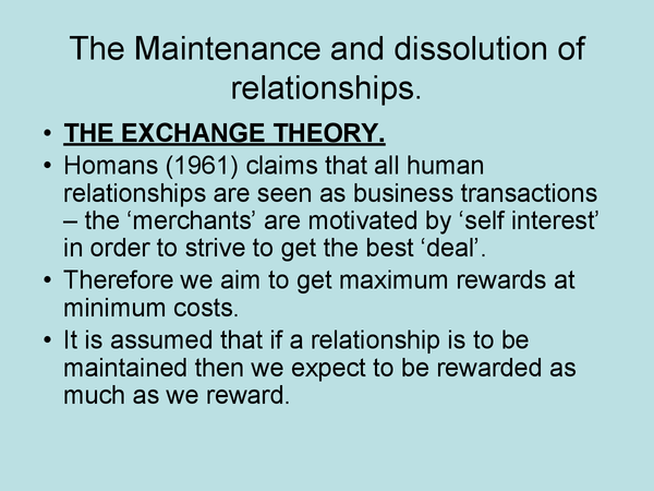 Preview of Theories of maintenance of relationship