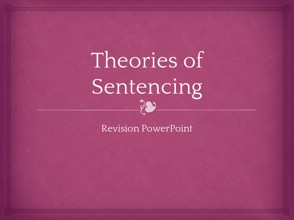 Preview of Theories of Sentencing Revision