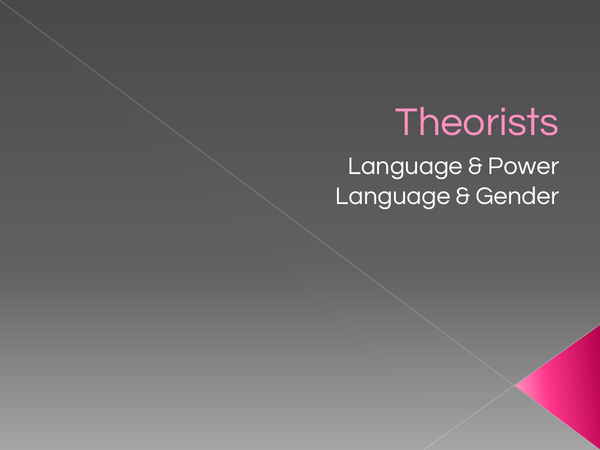 english language as level theorists The text emphasizes vygotsky's theories on the development of higher  to  highlight the emotions and these can be used in raising the level of social  organization  (2005), show that, in the english language there are about 2000  words to.