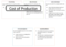 Preview of Things that effect the cost of Chemical Production