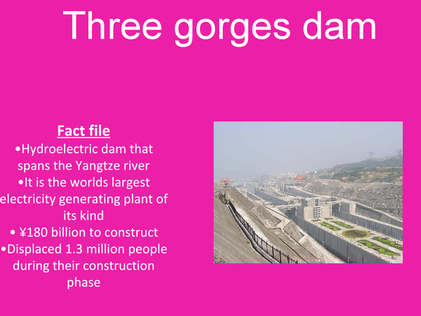 Preview of Three gorges dam