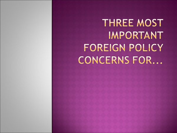 Preview of Three most important foreign policy concerns for Charles, Henry and Francis