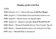 Preview of Timeline of Cold War