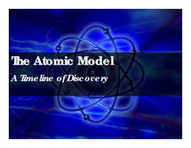 Preview of Timeline of How the Understanding of the Atom has Changed
