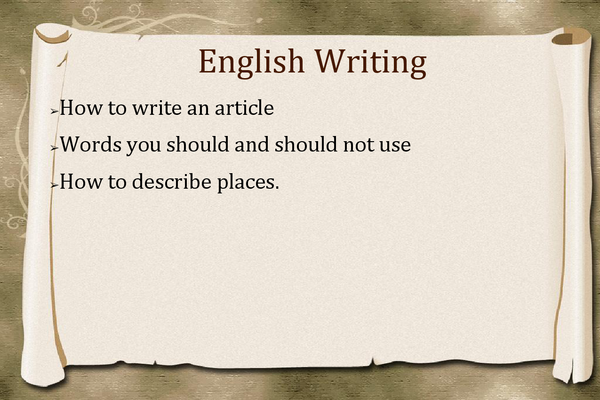Preview of Tips for writing an article.