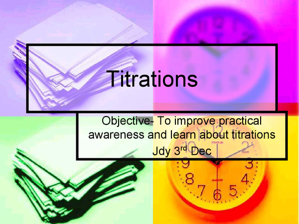 Preview of Titrations