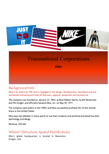 Preview of TNC Case Study - Nike