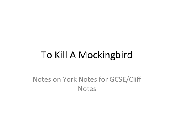 Preview of To Kill a Mockingbird by Harper Lee