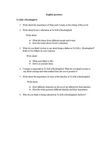 to kill a mockingbird theme essay questions