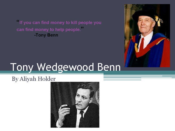 Preview of Tony Benn Powerpoint