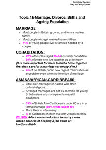 Preview of Marriage, Divorce, Births and ageing population topic 1B