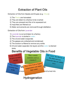 Preview of Topic 6- Plant Oils and Emulsions