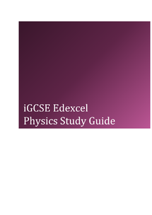 Preview of iGCSE Physics study Guide