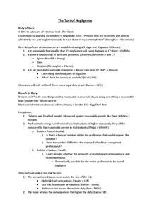 Preview of Tort Based Liability; Unit 2 - Notes