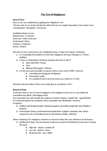 Preview of Tort Based Liability; Unit 4 - Notes