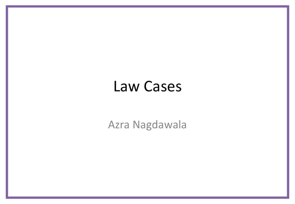 Preview of Tort Cases