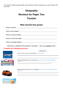 Preview of Tourism Revision C Ord