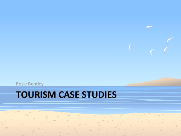 Preview of Tourism case studies
