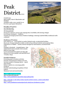 Preview of Tourism in the Peak District