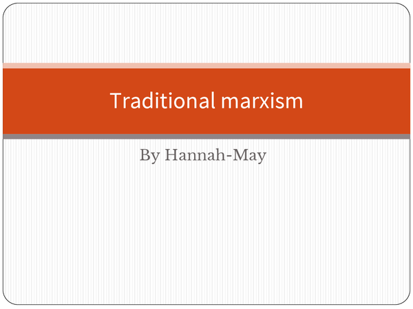 Preview of Traditional Marxism and crime