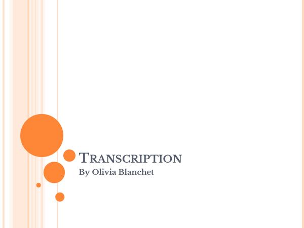 Preview of Transcription