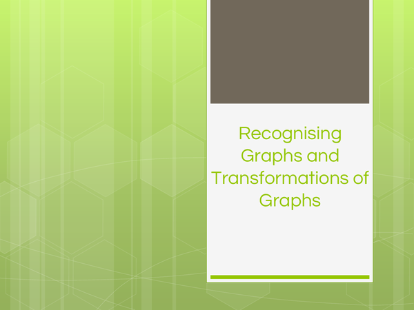 Preview of Transformations and Recognising Graphs