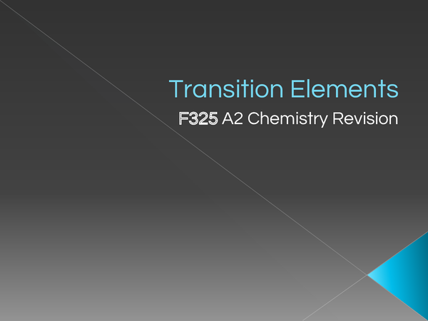 Preview of Transition Metals