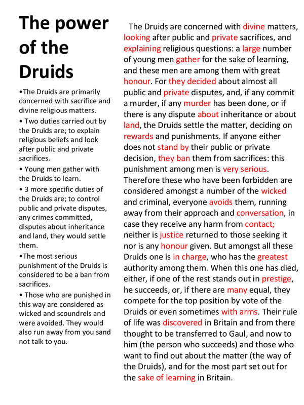 Preview of Translations and notes of the power of the druids and their education