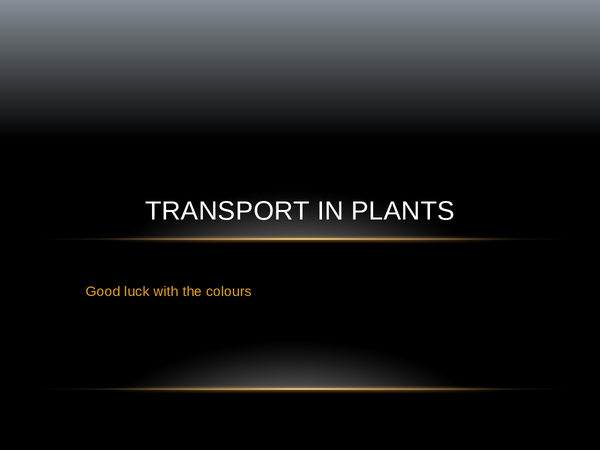 Preview of transport in plants ocr as level