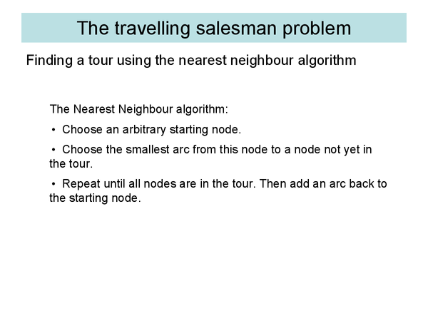 Preview of Travelling Salesperson (Decision Maths)