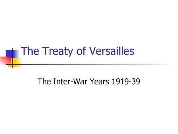 Preview of Treaty of Versailles powerpoint