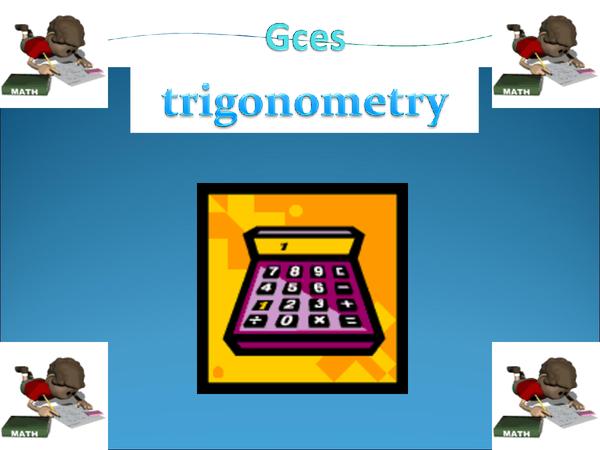 Preview of trigonometry and pythagoras