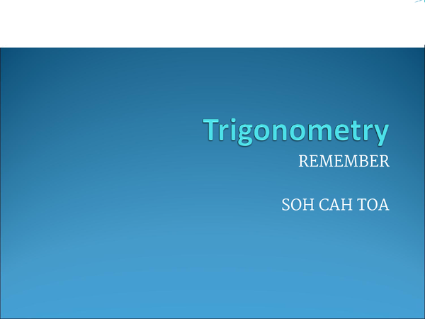 Preview of Trigonometry presentation