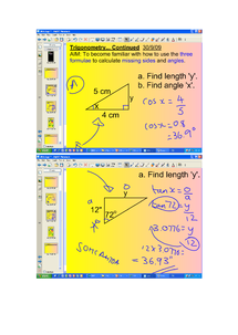 Preview of Trigonometry - Smart Board Notes