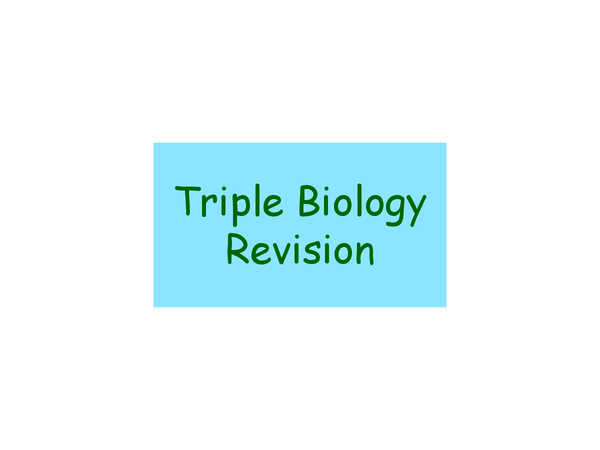 Preview of Triple Revision Bio 1