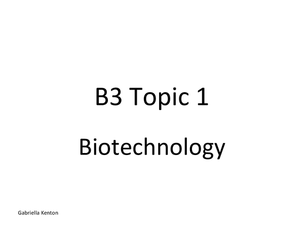 Preview of Triple Science B3 GCSE Revision Notes (edexcel)