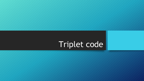 Preview of Triplet code