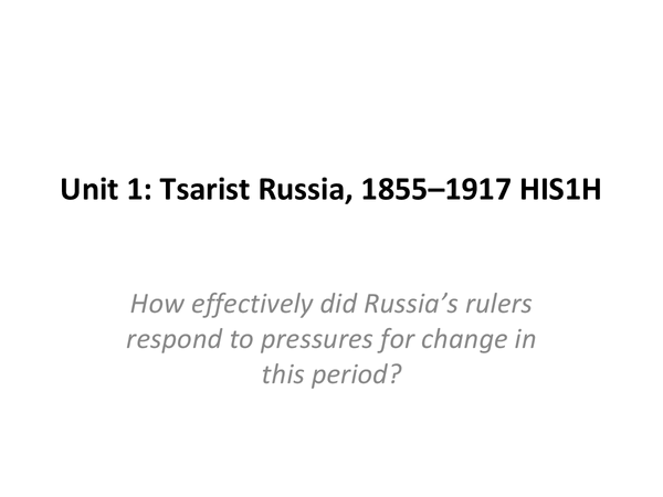 Preview of Tsarist Russia: The Tsarist Regime, 1906–1914