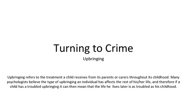 Preview of Turning to Crime G543
