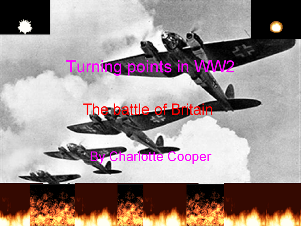 Preview of Turning points of ww2- The battle of Britain