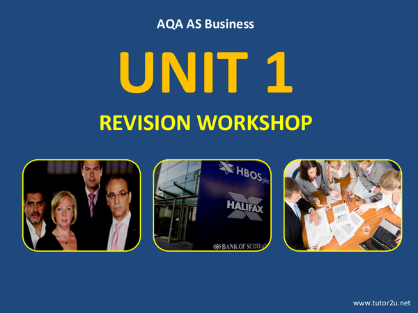 Preview of Tutor2u official powerpoint slide (unit 1)
