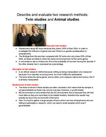 Preview of Twin studies and animal studies