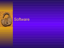 Preview of Types of software