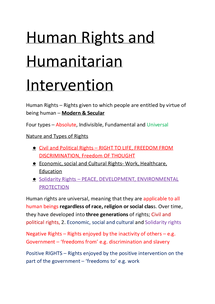 Preview of Unit 4 D Revision Guide - Human Rights