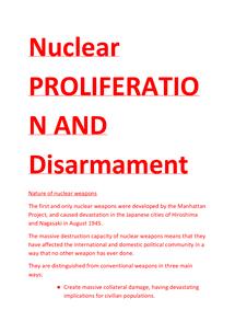 Preview of unit 4d - nuclear proliferation