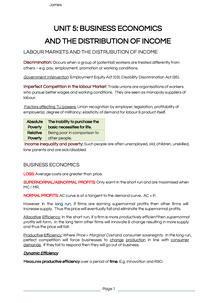 Preview of Unit5 Business Economics