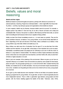 Preview of Unit 1.4 Beliefs, values and moral reasoning (1).doc