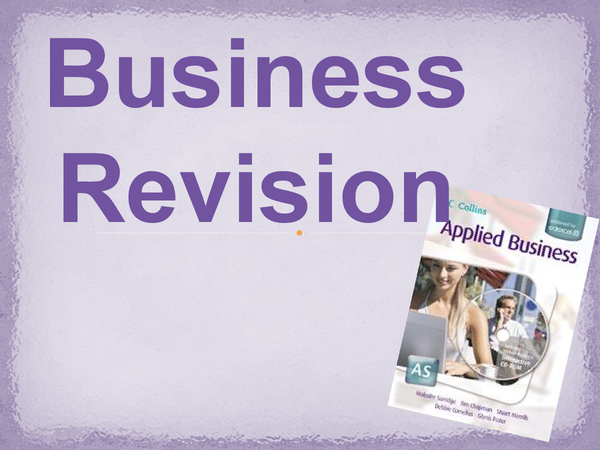 Preview of Unit 1 applied business studies - key information