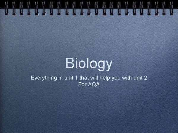 Preview of Unit 1 biology information for unit 2