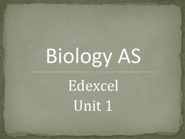 Preview of Unit 1 biology revision, for edexcel AS level